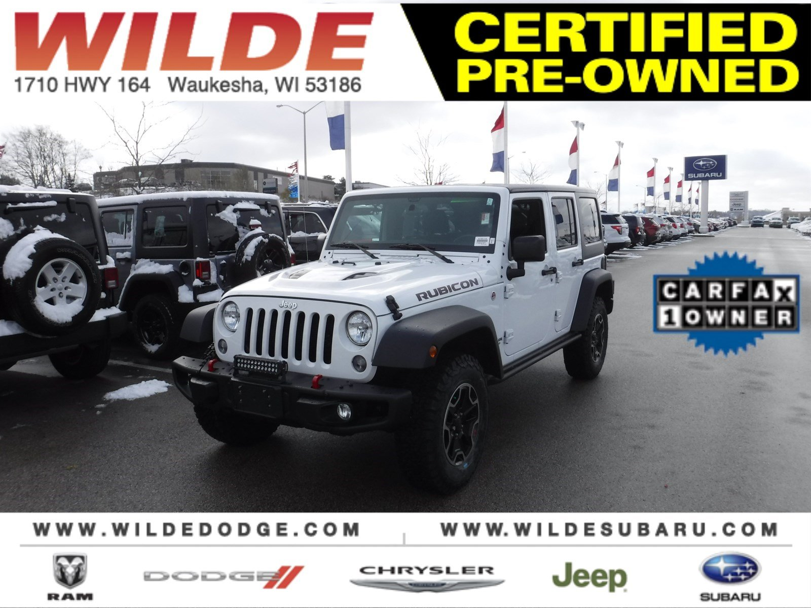 Certified Pre Owned 2016 Jeep Wrangler Unlimited Rubicon Hard Rock