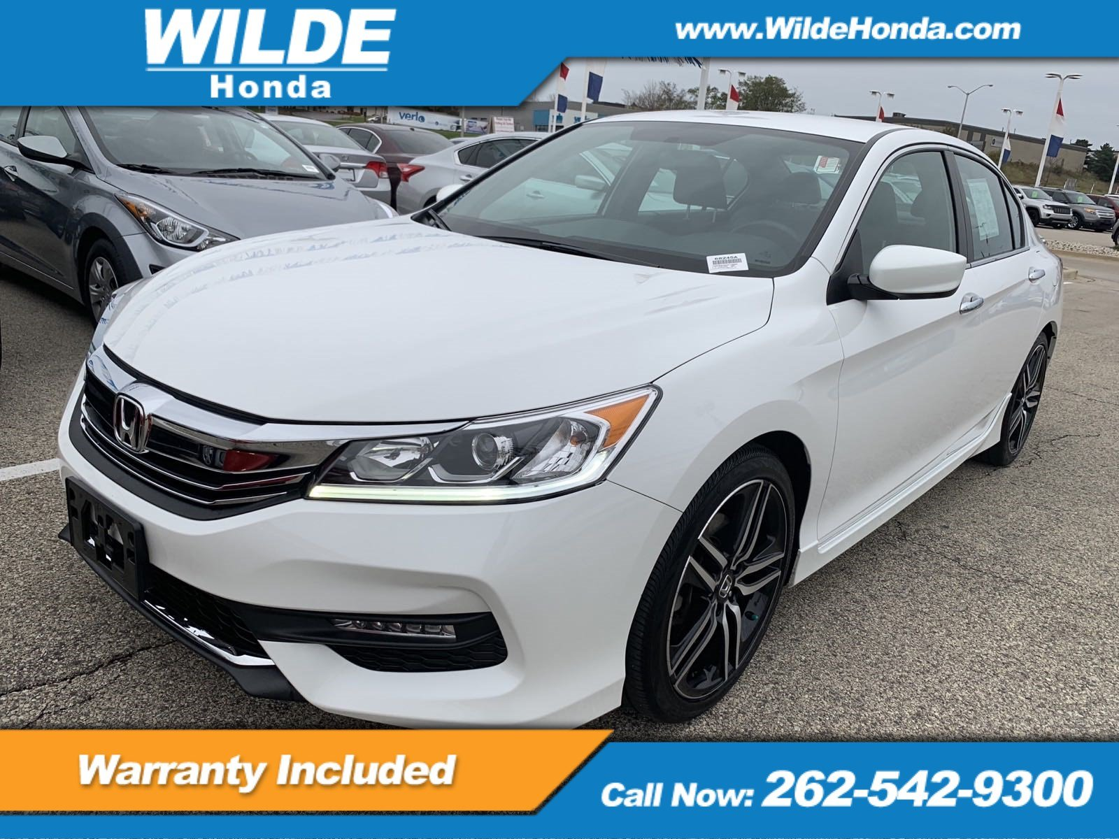 Certified Pre Owned 2016 Honda Accord Sport 4dr Car in A